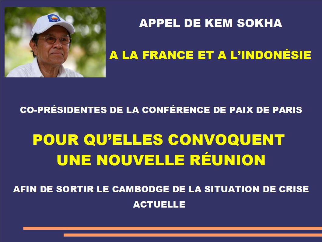 appel de Kem Sokha à la France et à l'Indonésie 2