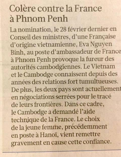 colère contre la france à Phnom Penh