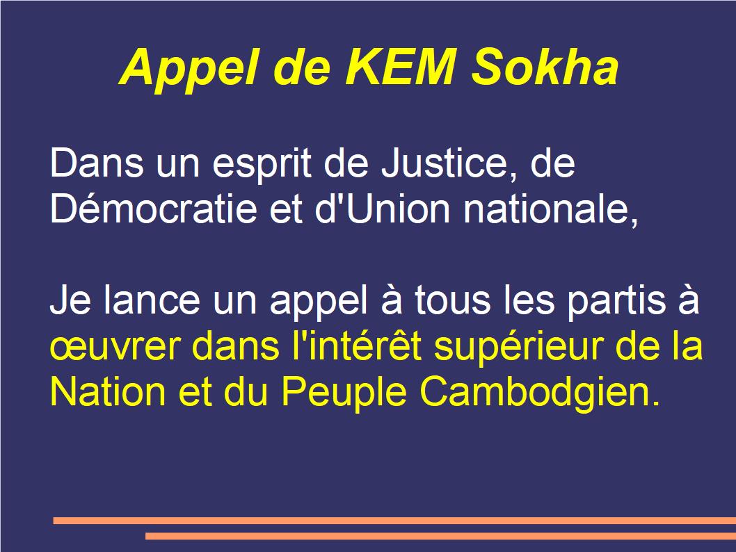 appel de Kem Sokha